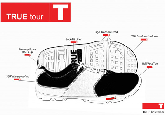 true linkswear golf shoes - technology