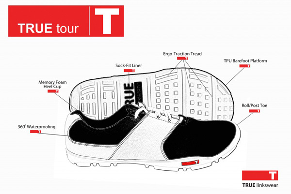 true linkswear golf shoes technology