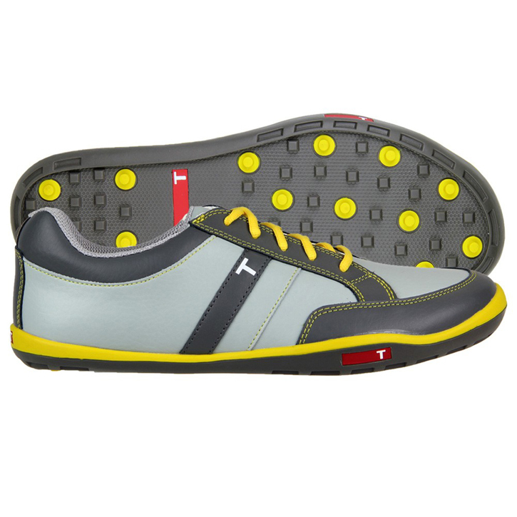 True Linkswear True phx Golf Shoes - Grey/Charcoal/Yellow