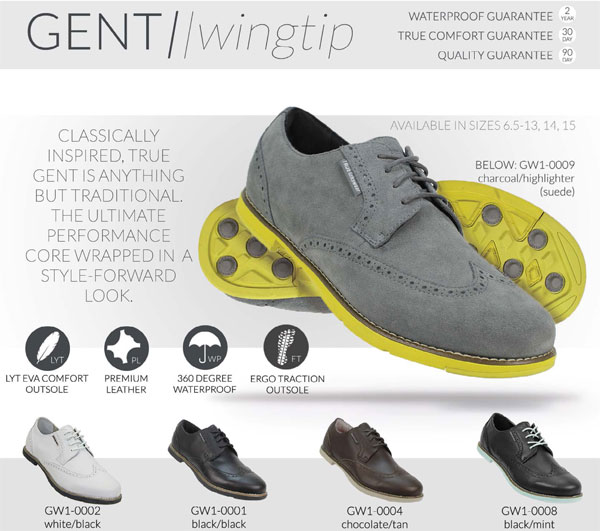 true linkswear true gent wingtip golf shoes