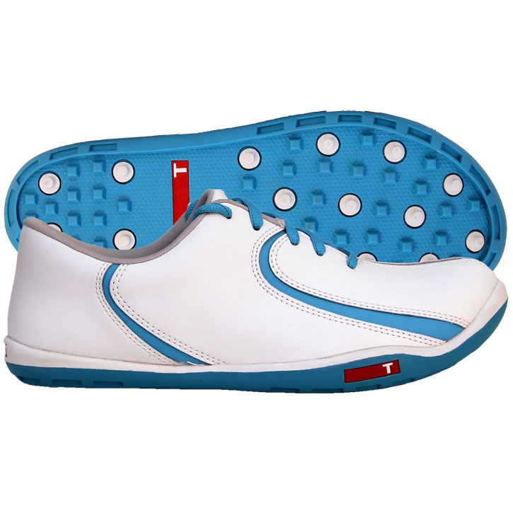True Linkswear True Isis Womens Golf Shoes - White/Blue