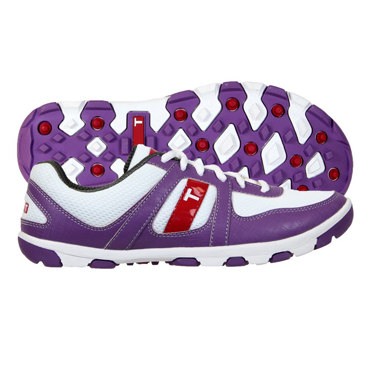 True Linkswear True Jade Womens Golf Shoes - White/Grey/Purple