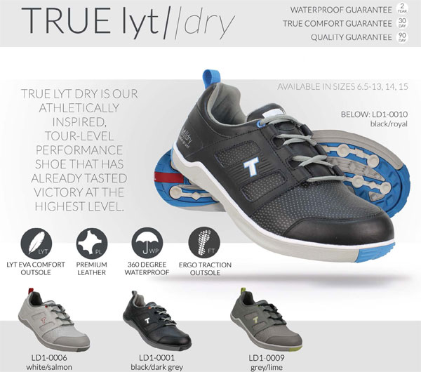 true linkswear true lyt dry golf shoes