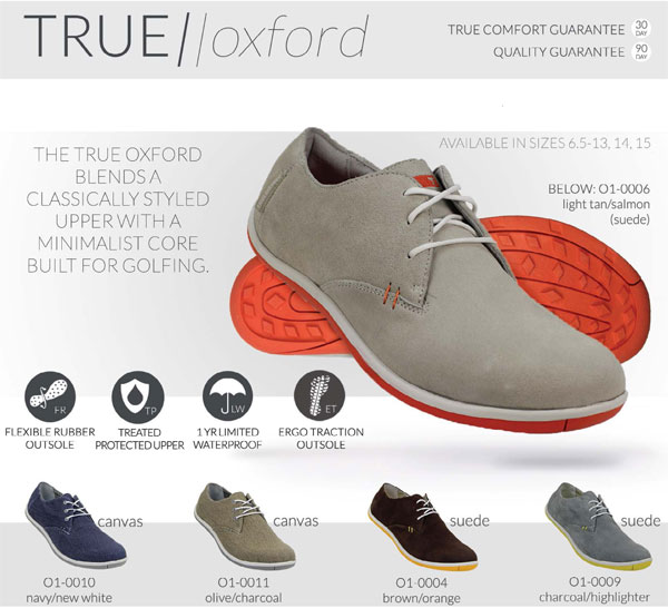 true linkswear true oxford golf shoes