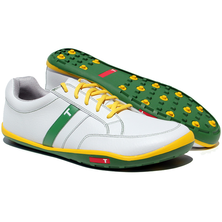 Limited Edition True Linkswear True phx Golf Shoes - White/Blue/Yellow