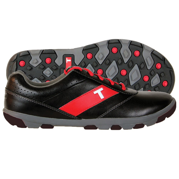 True Linkswear True Proto Golf Shoes - Black/Charcoal/Red