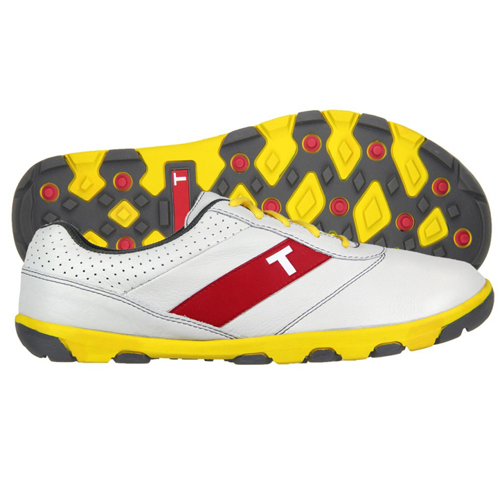 True Linkswear True Proto Golf shoes - White/Yellow/Charcoal