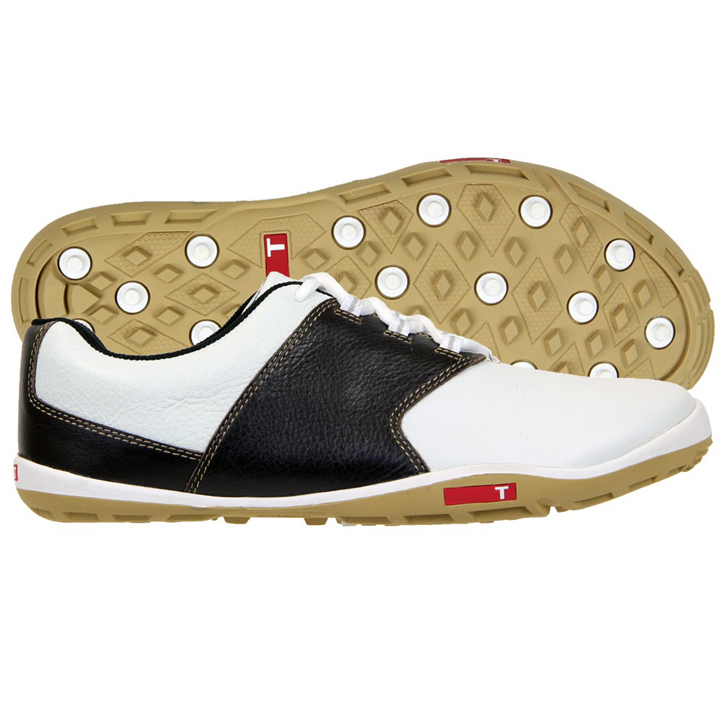 True Linkswear True Tour Golf Shoes - White/Brown/Sand Image