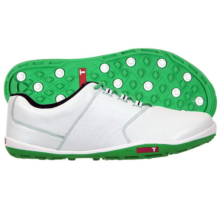 True Linkswear True Tour Golf Shoes - White/Kelly