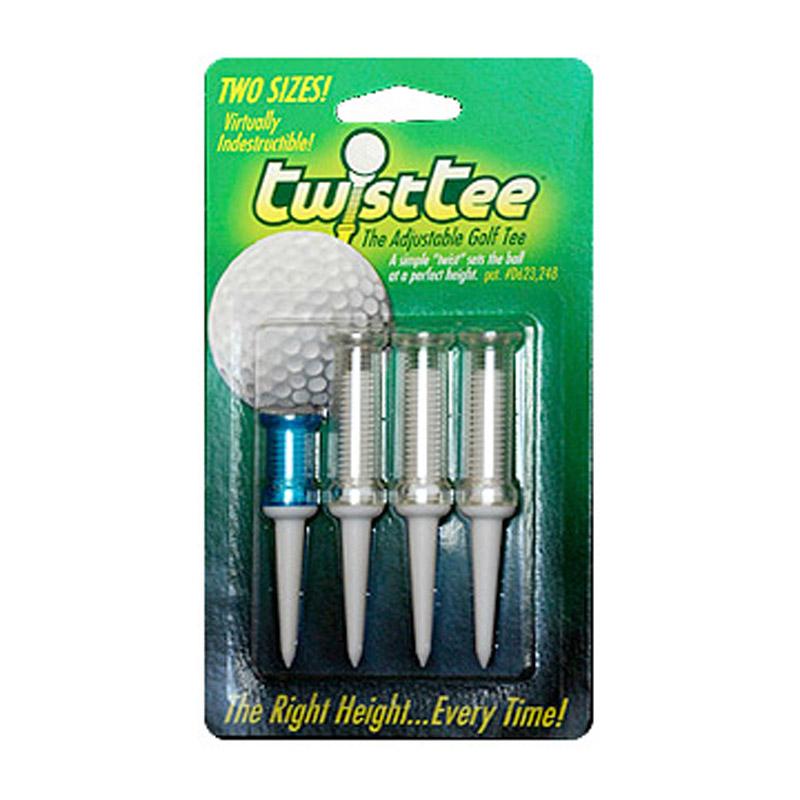 TwisTee Adjustable Golf Tees (4 pack)
