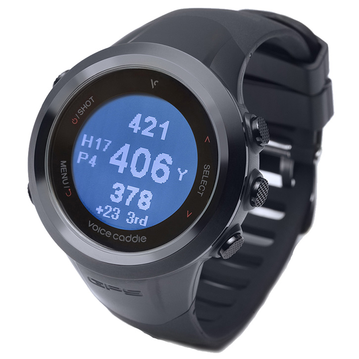 Voice Caddie T2 Golf GPS Watch - Black
