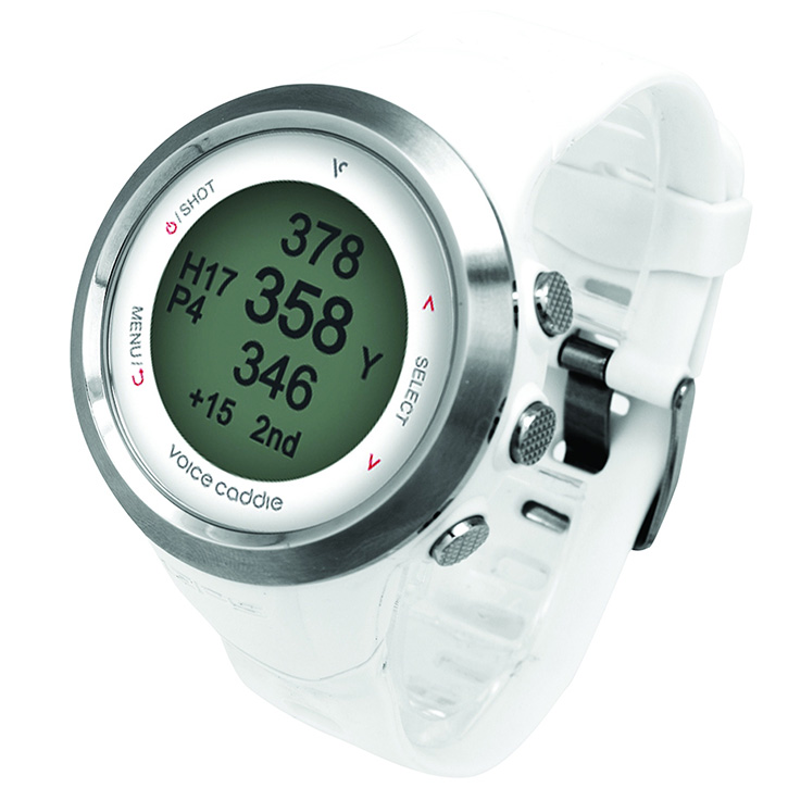 Voice Caddie T2 Golf GPS Watch - White