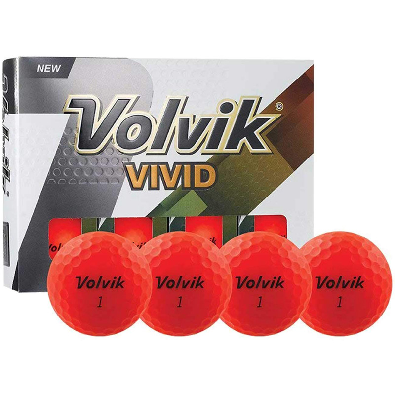 Volvik Vivid Golf Balls (1 Dozen) - Matte Red