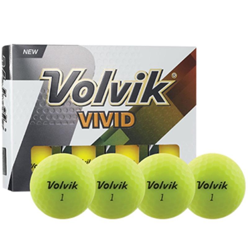 Volvik Vivid Golf Balls (1 Dozen) - Matte Yellow