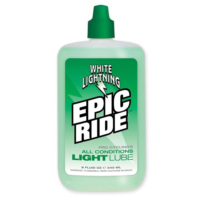 White Lightning Epic Ride Chain Lube 8oz Drip