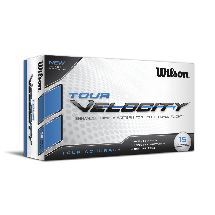 Wilson Tour Velocity Accuracy Golf Balls (15 Ball Pack) Image