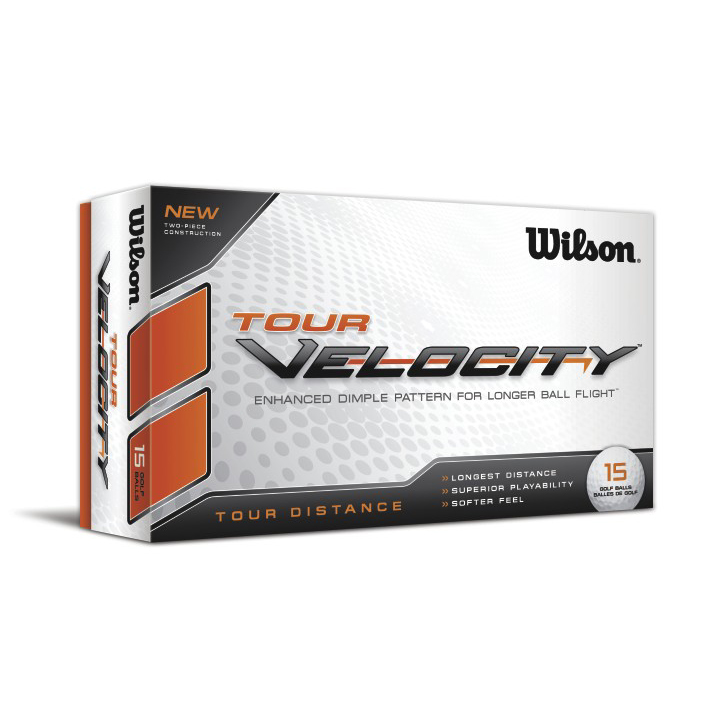 Image of Wilson Tour Velocity Distance Golf Balls (15 Ball Pack)