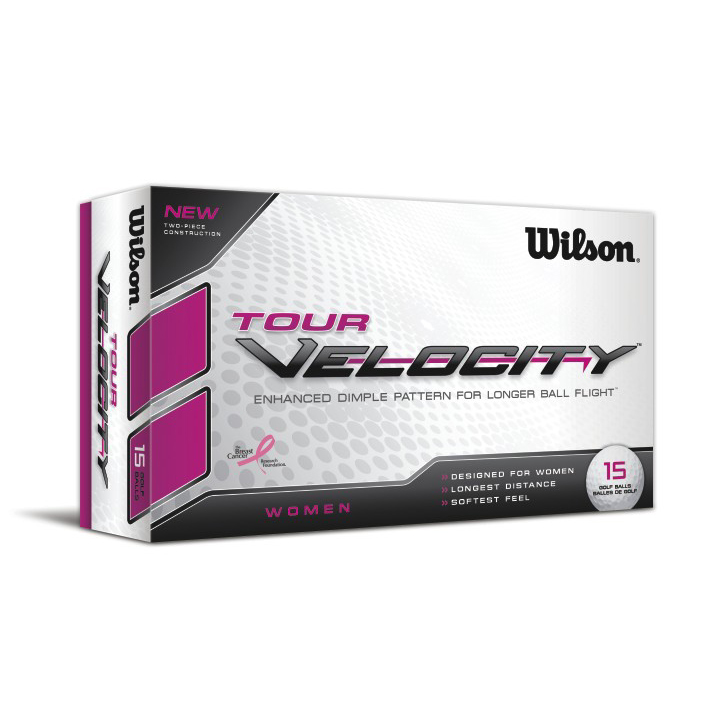 Image of Wilson Tour Velocity Womens Golf Balls (15 Ball Pack)