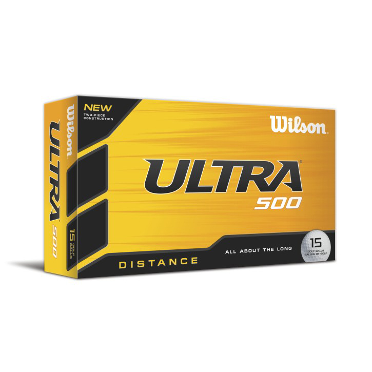 Wilson Ultra 500 Distance Golf Balls (15 Ball Pack)