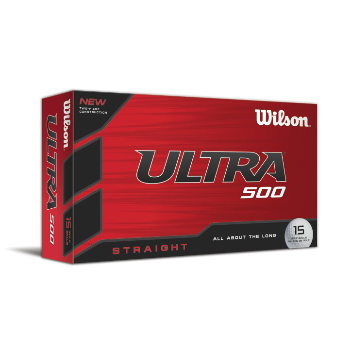 Image of Wilson Ultra 500 Straight Golf Balls (15 Ball Pack)