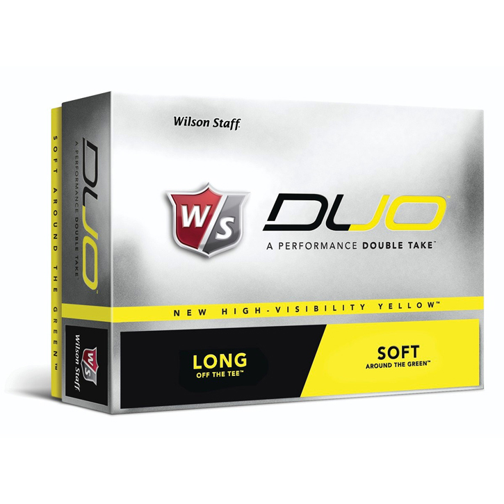 Wilson Duo 2-Piece Golf Balls - Yellow (1 Dozen)