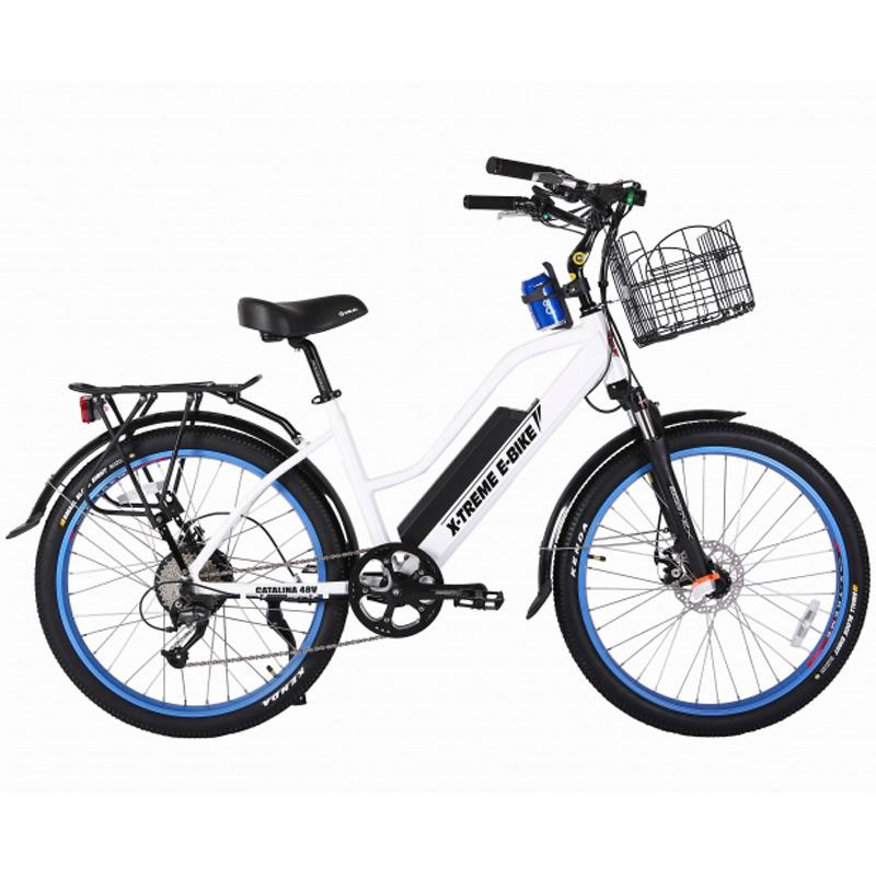 X-Treme E-Bike Catalina Step Thru 48V Electric Bicycle - White