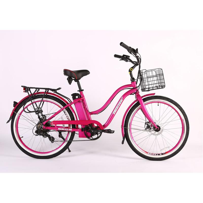 X-Treme E-Bike Malibu Elite Max 36V Step-Thru Electric Bicycle - Pink