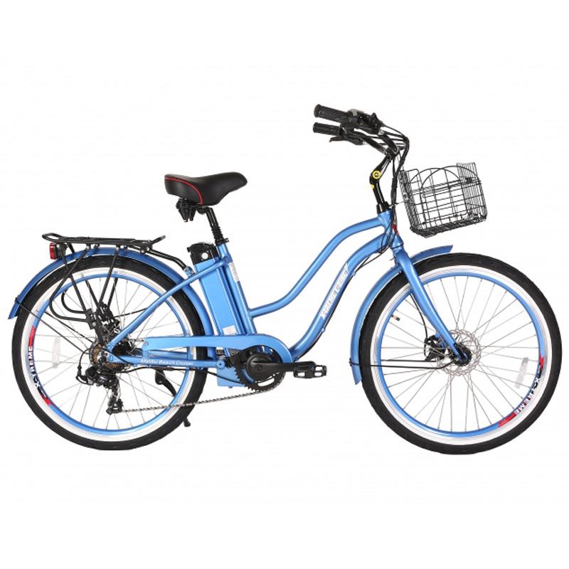 X-Treme E-Bike Malibu Step Thru Electric Bicycle - Baby Blue
