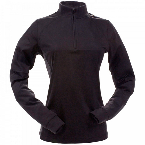 Zero Restriction Zip Mock - Womens Black