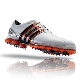 Adidas Tour 360 ATV Golf Shoes - Mens White/Metallic Silver/Energy ...