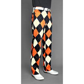 Loudmouth Golf Pants - Orange   Black at InTheHoleGolf.com 20cf3a49173a
