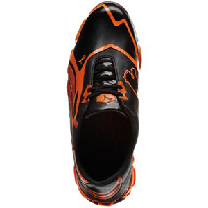 701205cfba12fe Puma Amp Cell Fusion SL Golf Shoes - Black Vibrant Orange at  InTheHoleGolf.com