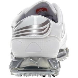 46172ef8a3ffbd Puma Amp Cell Fusion SL Golf Shoes - White Silver at InTheHoleGolf.com