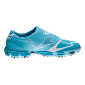 1fed5205523703 Puma Amp Cell Fusion SL Golf Shoes - Blue Atol White at InTheHoleGolf.com