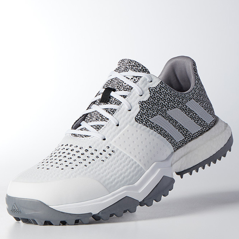 Adidas AdiPower Sport Boost 3 Golf Shoes - White Silver Light-Onix ... 8880a3639