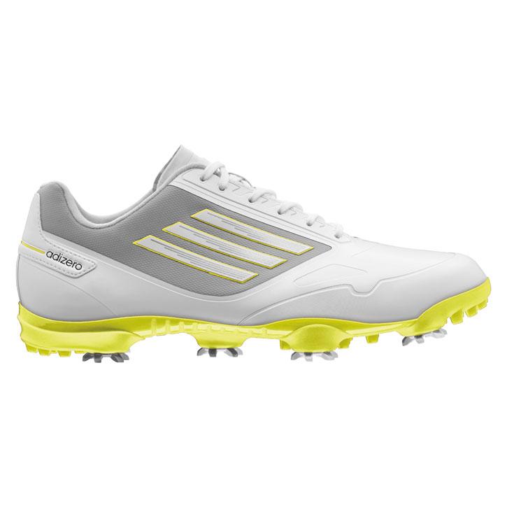 Adidas Adizero One Golf Shoes - Mens White/Amazon Green at ...