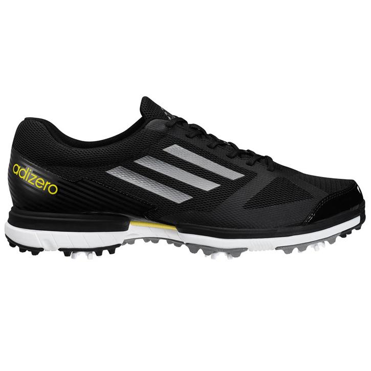 Adidas adizero Sport Golf Shoes - Mens Black/Silver/Vivid Yellow ...