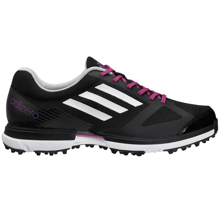Adidas adizero Sport Golf Shoes - Womens Black/White/Passion Fruit ...