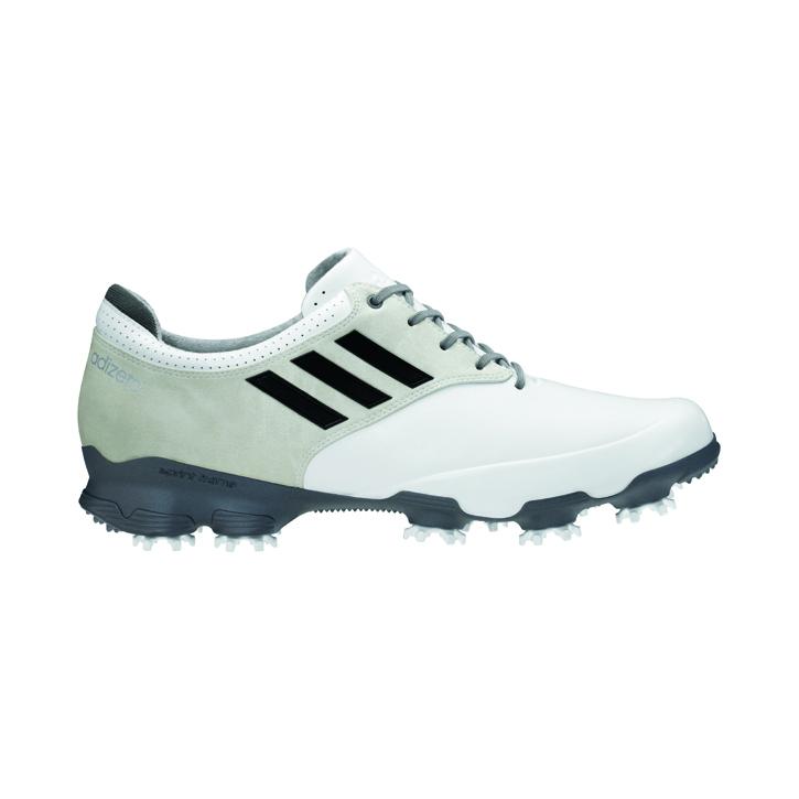 Adidas adizero Tour Golf Shoes - Mens White/Black/Silver at ...