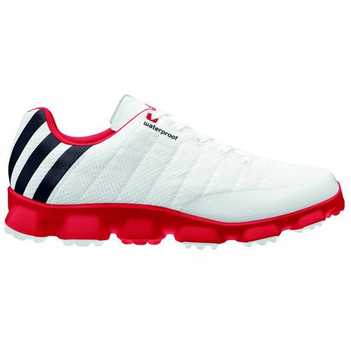 Adidas 2013 CrossFlex Golf Shoes - Mens White/Red at InTheHoleGolf.com