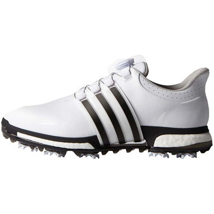 new styles a23fd 7cbb2 2016 Adidas Tour 360 Boost BOA Golf Shoes - WhiteBlackSilver at  InTheHoleGolf.com