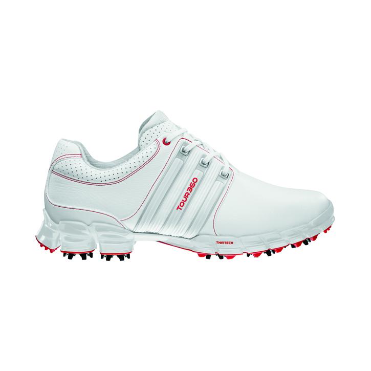 fb0d2dbfe8be82 Adidas Tour 360 ATV M1 Golf Shoes - Mens White Silver Red at  InTheHoleGolf.com