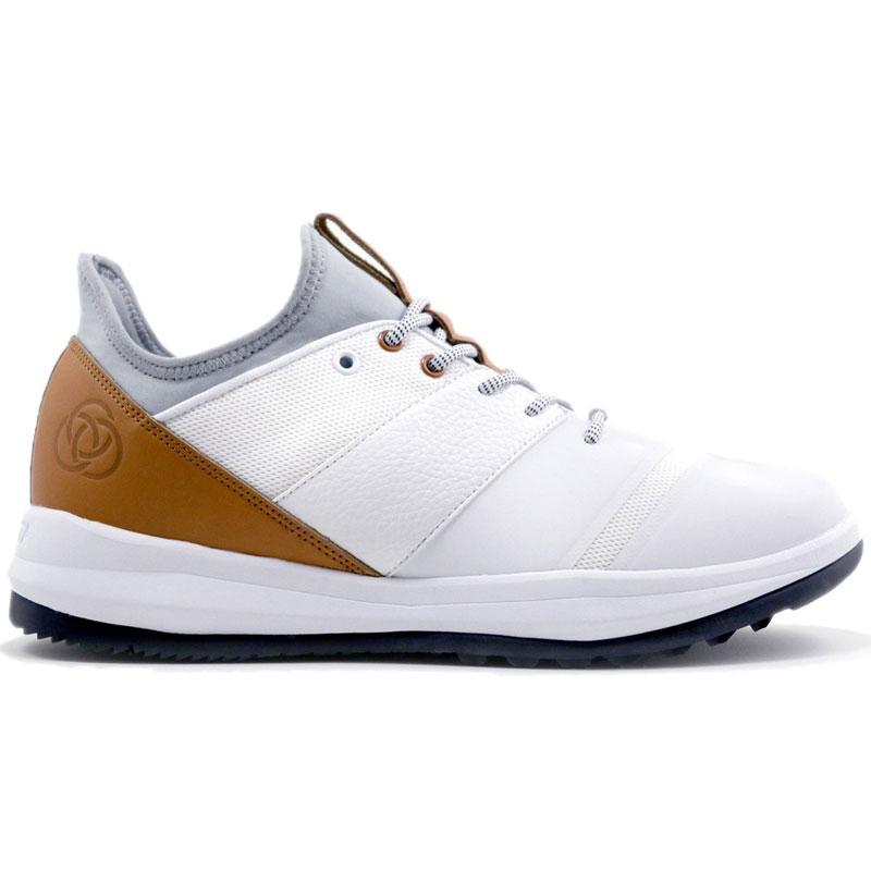 Athalonz EnVe Golf Shoes - Mens - White/Tan at InTheHoleGolf.com