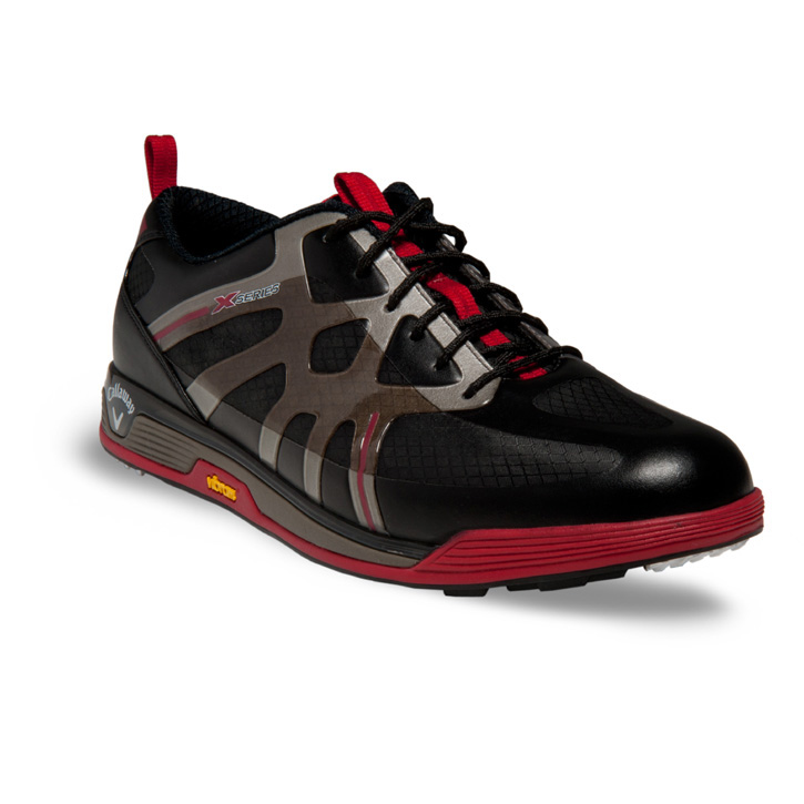 2014 Callaway X Cage Vibe Golf Shoes - Mens Black/Black