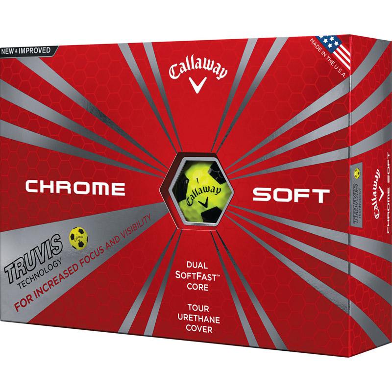 Callaway Chrome Soft Golf Balls (1 Dozen) - TRUVIS - Yellow/Black