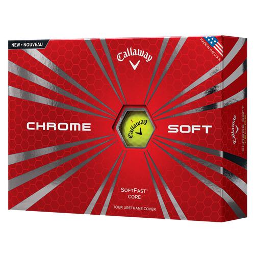 Callaway Chrome Soft Golf Balls (1 Dozen) - Yellow
