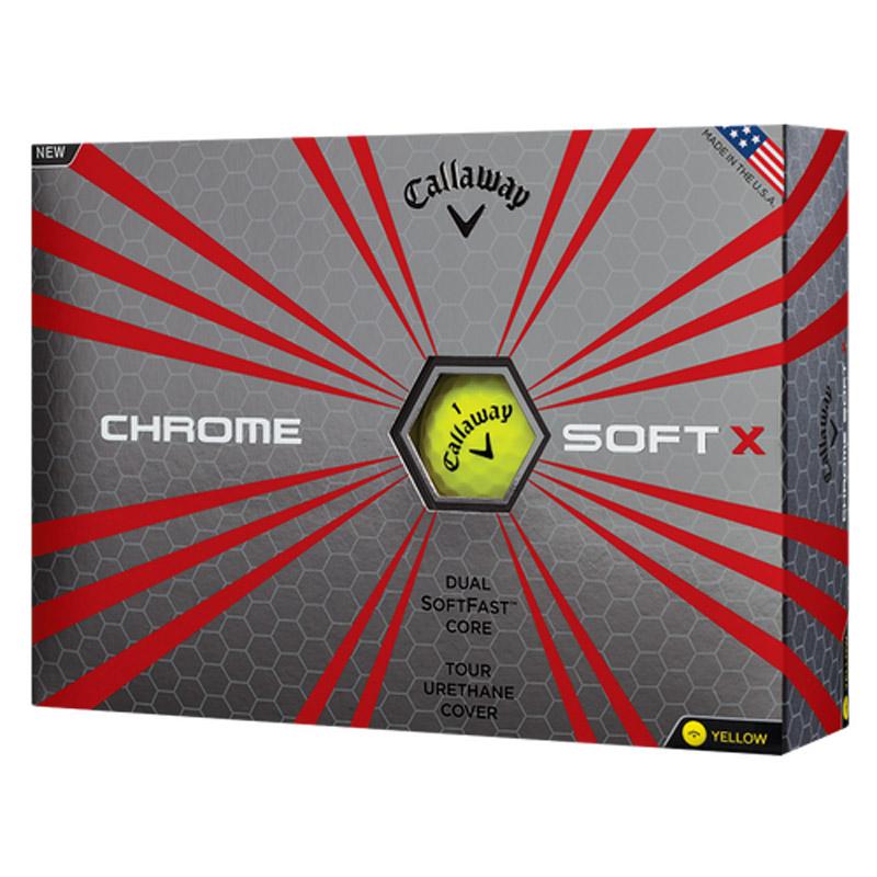 Callaway Chrome Soft X Golf Balls (1 Dozen) - Yellow