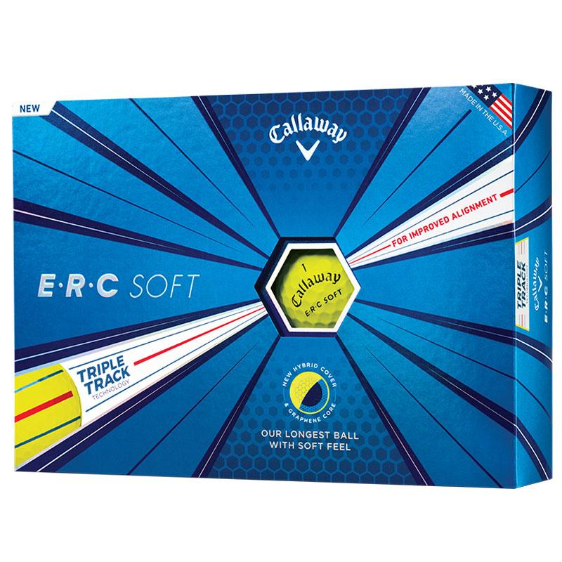 Callaway ERC Soft Golf Balls with Triple Track (1 Dozen) - Yellow