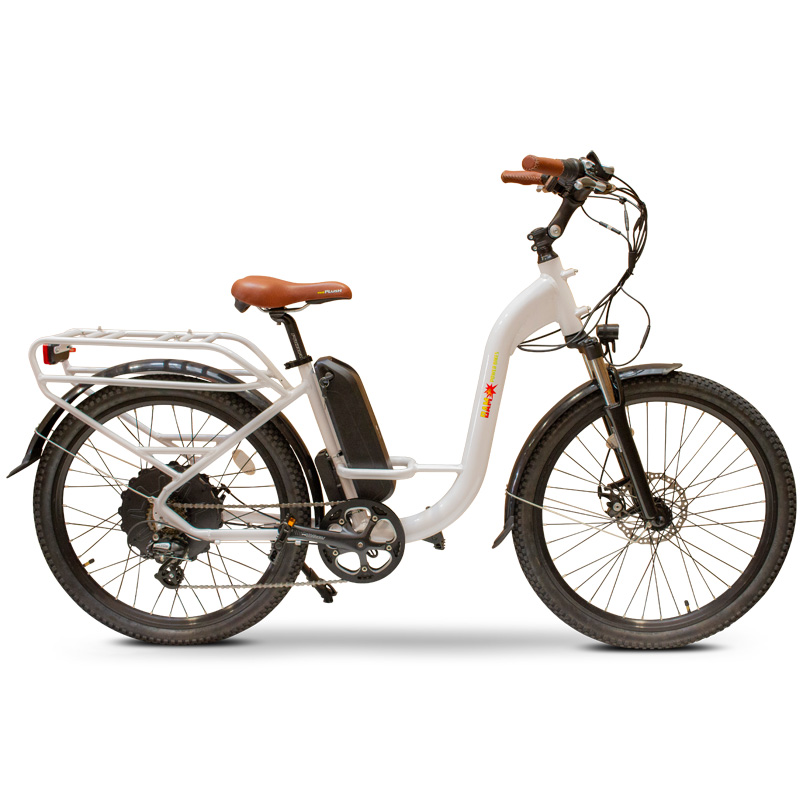 BAM Step Thru Electric Bicycle - White