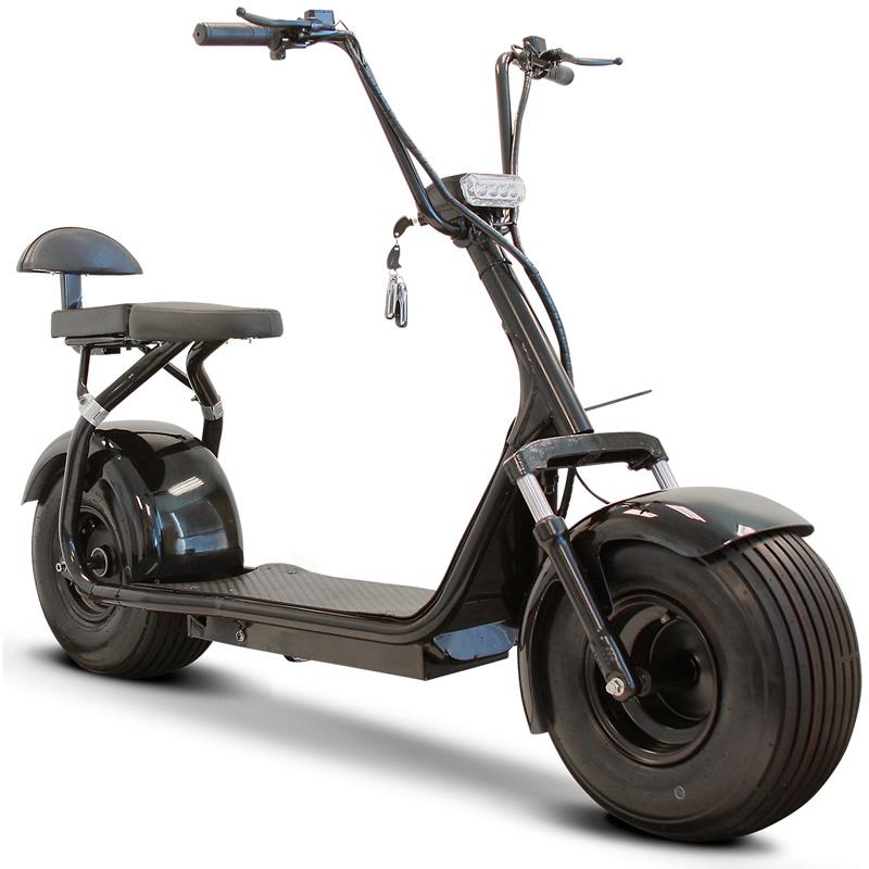eWheels EW-08 Fat Tire Electric Scooter - Black